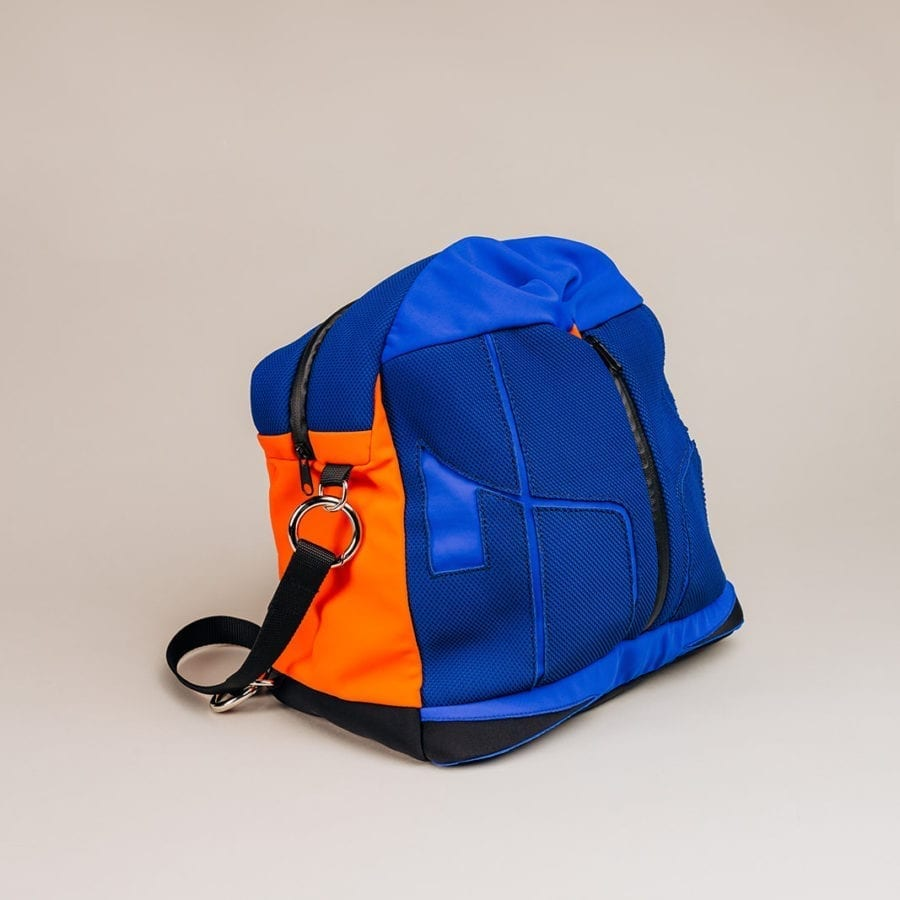 Honey Bag Bee&Smart Besace Soho - Sac pliable en Néoprène Bleu et Orange