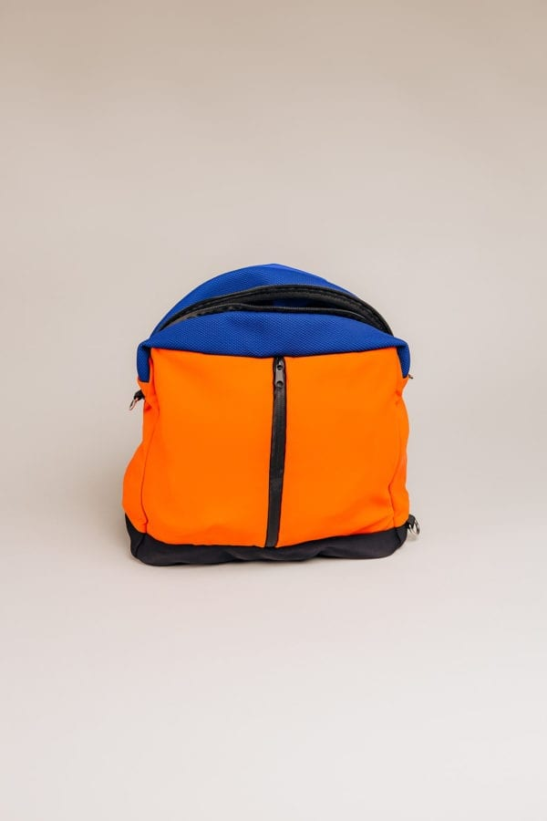 Honey Bag Bee&Smart Crossbody Soho - Orange and blue Neoprene foldable bag