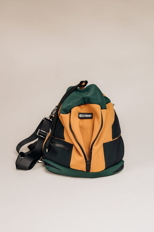Honey Bag Bee&Smart Bucket Chelsea - Green and Camel Neoprene foldable bag